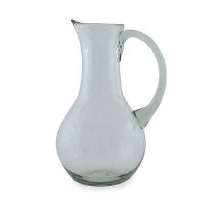 Novica The Javier and Efren Blown Glass Pitcher