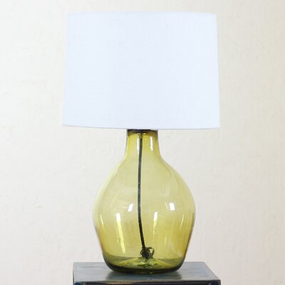 """Novica The Javier and Efren 14.3"""" Hand Blown Glass Table Lamp"""