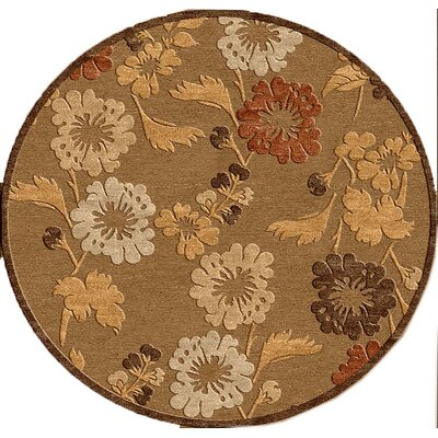 nuLOOM Veranda MultiFlowered Tan/Fawn Rug