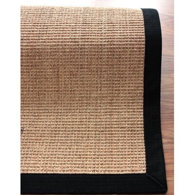nuLOOM on Sisal Sand/Black Border Rug