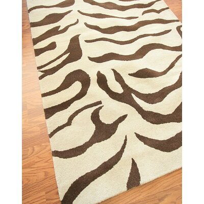nuLOOM Safari Zebra Brown Rug