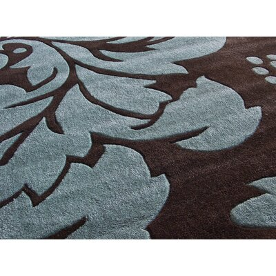 nuLOOM Cine Floral Brown/Blue Rug
