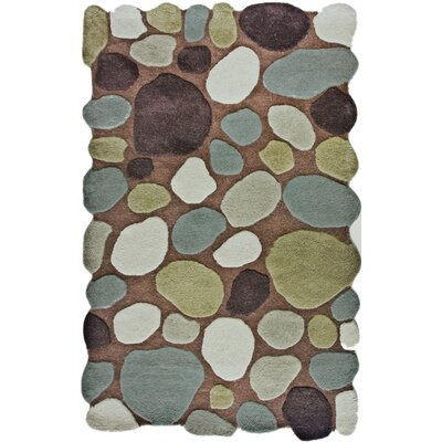 nuLOOM Pebbles Pebbles Brown Multi Rug