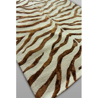 nuLOOM Earth Safari Zebra Print with Faux Silk Highlights Rug