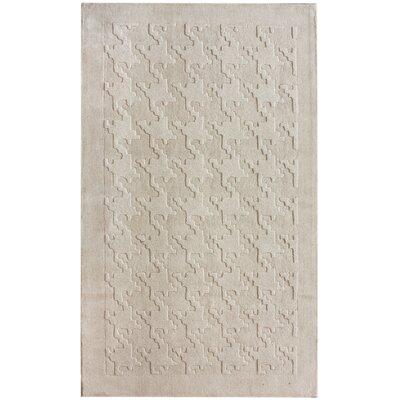 nuLOOM Gradient Houndstooth Texture Ivory Rug