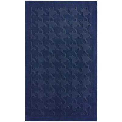 nuLOOM Gradient Houndstooth Texture Navy Rug
