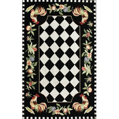 nuLOOM Rooster Black Novelty Rug