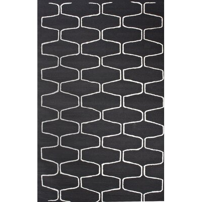 nuLOOM Trellis Charcoal Contemporary Rectangular Rug