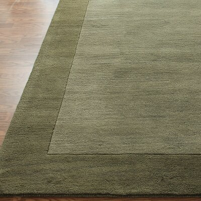 nuLOOM Structures Green Border Rug