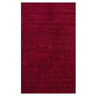 nuLOOM Shaggy Really Red Rug