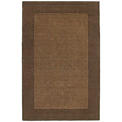 nuLOOM Fancy Chocolate Solid Trim Rug