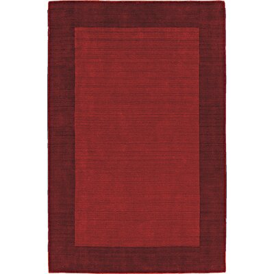 Fancy Red Solid Trim Rug