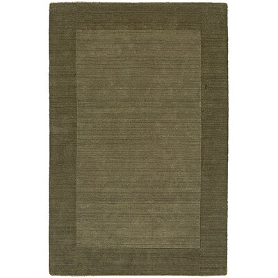 Fancy Green Solid Trim Rug