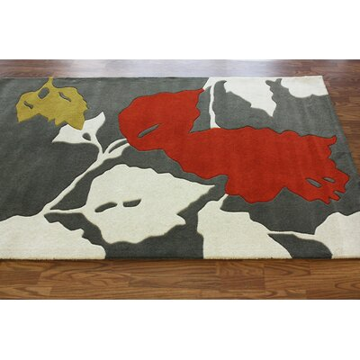 nuLOOM Bella Leaves Red Rug