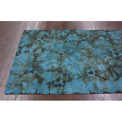 nuLOOM Couture Kilim Splash II Blue Rug