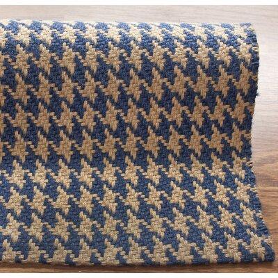nuLOOM Natura Houndstooth Blue Rug
