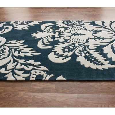 nuLOOM Cine Ornate Transitions Teal Rug