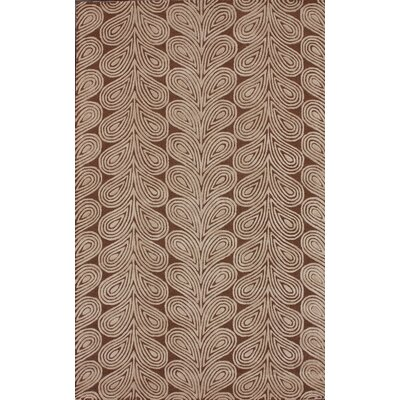 nuLOOM Onyx Leaves Brown Rug