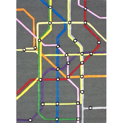 nuLOOM KinderLOOM Subway Multi Kids Rug