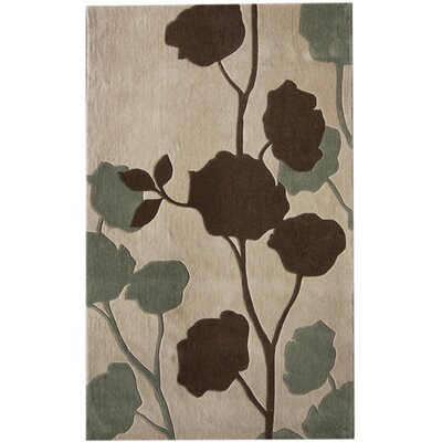 nuLOOM Pop Leaves Beige Rug