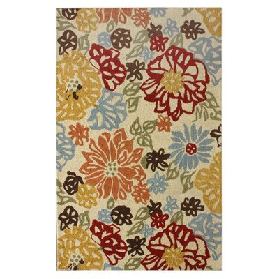 nuLOOM Marbella Bold Leaves Ikat Multi-Colored Rug