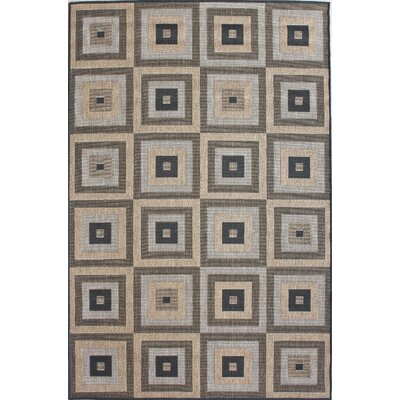 nuLOOM Villa Outdoor Haler Brown Rug