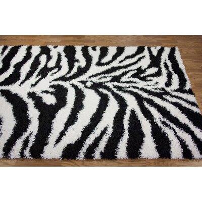 nuLOOM Shaggy Zebra Rug