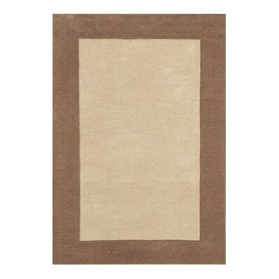 nuLOOM Natura Solo Thick Border Taupe Rug