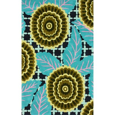 nuLOOM Fancy Turquoise Nalda Floral Rug