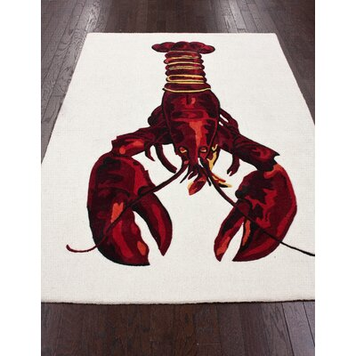 nuLOOM Cine Red Lobster Novelty Rug