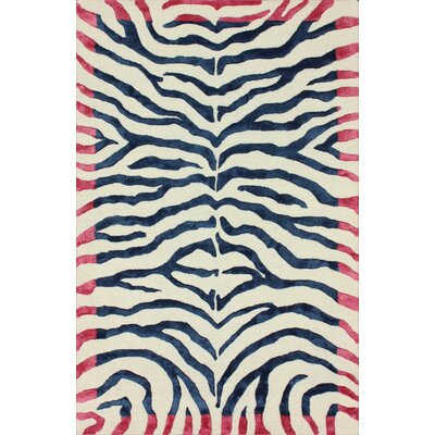 nuLOOM Earth Ice Blue Plush Safari Rug