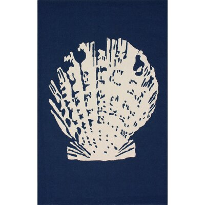 Homestead Blue Sea Shell Novelty Rug