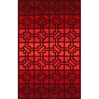 nuLOOM Trellis Fire Red Wendy Rug