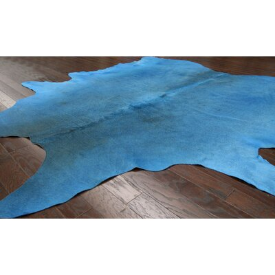 nuLOOM Natura Blue Cow Hide Rug