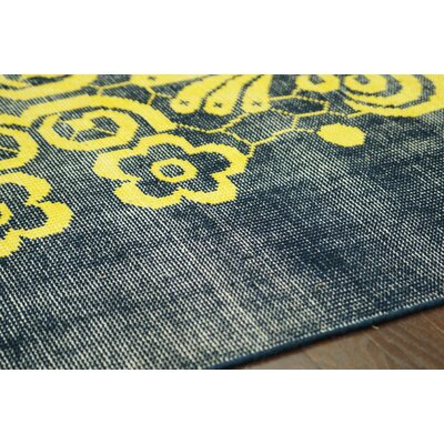 nuLOOM Overdye Yellow Tribal Damask Rug