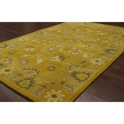 nuLOOM Overdye Yellow Overdyed Rug