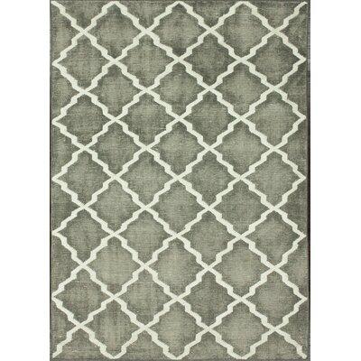 nuLOOM Overdye Grey Moroccan Trellis Rug