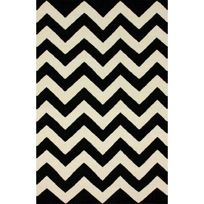 Moderna Black Chevron Rug