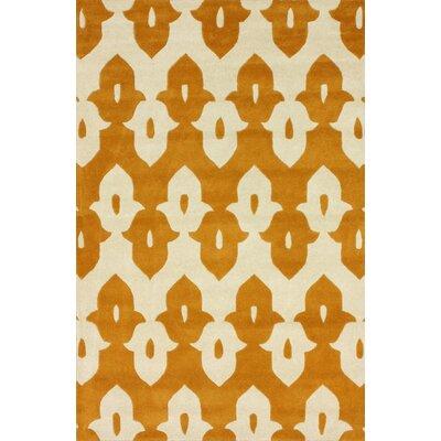 nuLOOM Moderna Mustard Ikat Trellis Rug