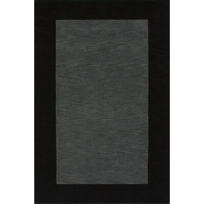 Fancy Charcoal Solid Trim Rug