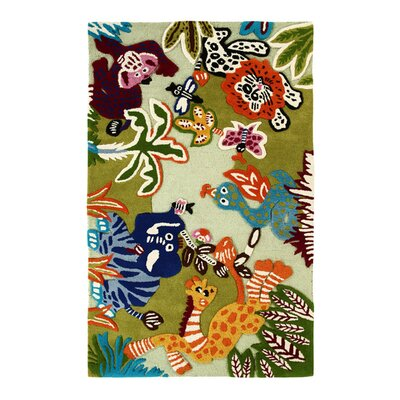 nuLOOM Kinder Zoo Animals Kids Rug