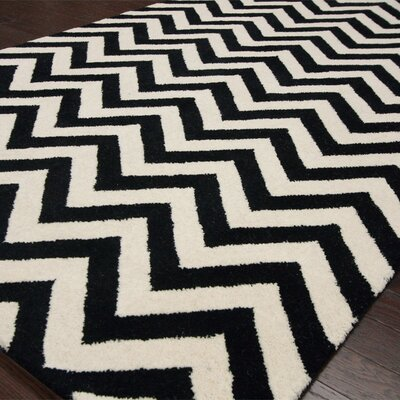 nuLOOM Gradient Chevron Black Rug