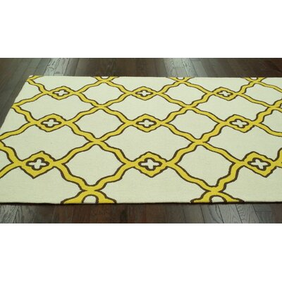 nuLOOM Trellis Yellow, Brown & Beige Naara Rug