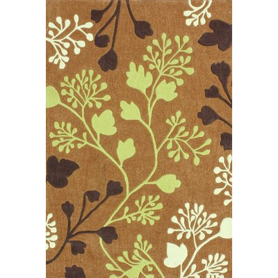 nuLOOM Cine Orange Fall Leaves Rug