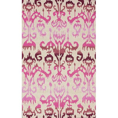 nuLOOM Pop Dragon Fruit Ikat Rug