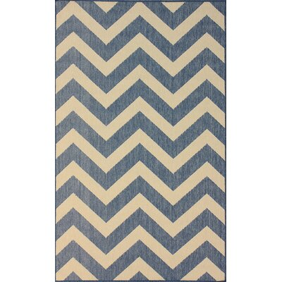 nuLOOM Villa Outdoor Blue Chevron Rug