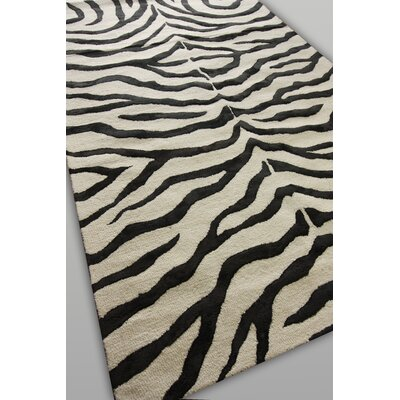 nuLOOM Earth Black Radiant Zebra Rug