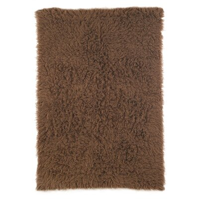 nuLOOM Flokati Milk Chocolate Rug