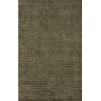 Goodwin Olive Solid Plush Rug