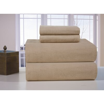 Heavy Weight Full Flax Flannel Sheet Set